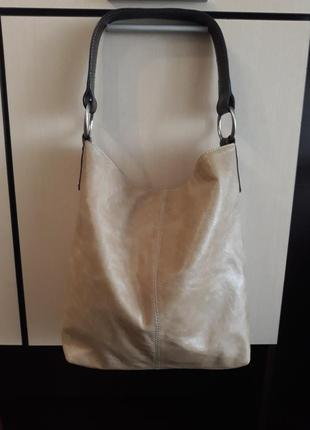 Кожаная сумка шоппер 100% натуральная кожа