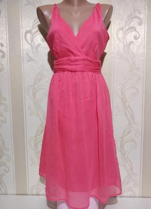 Нежное нарядное шифоновое платье .