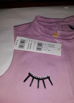 Брендовое нежно-розовое платье из вискозы original marines. италия.2 фото