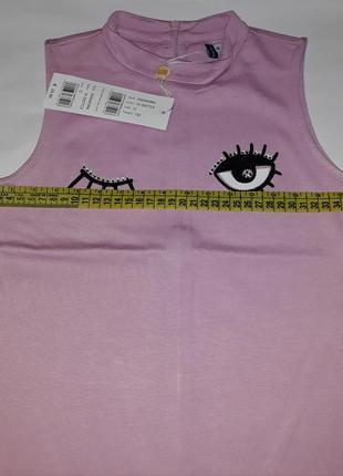 Брендовое нежно-розовое платье из вискозы original marines. италия.4 фото