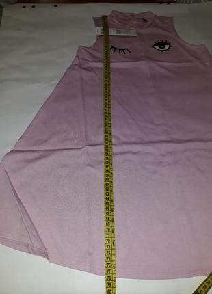 Брендовое нежно-розовое платье из вискозы original marines. италия.5 фото