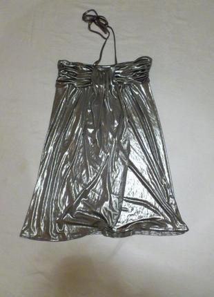 Юбка платье цвет металлик для тех кто в тренде 2018 2019 love label напыление серебром