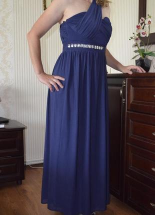 Платье макси длинное вечернее на выпускной выпускное свадьбу 10 м 38 размер новое