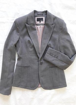 Стильный пиджак - жакет next в легкую клетку на подкладке