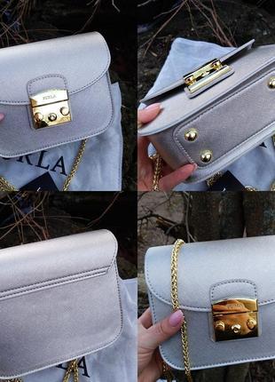 Женская сумочка  кроссбоди в серебре