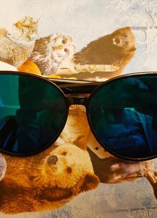 Очки солнцезащитные бензиновые, кошачий глаз
