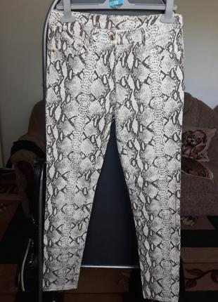 Штаны брюки джинсы под змею змеиный принт