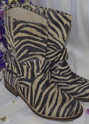Сапоги ботинки кожаные нубук замша 35 размер италия