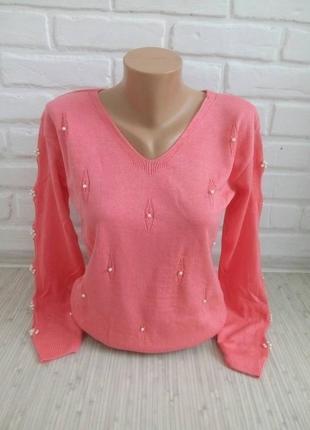Тоненький трикотажный свитер#молодежный джемпер#красивый свитерок