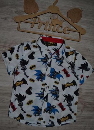 Рубашка шведка мальчику next 1.5-2г и дольше сост отл batman