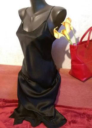 Резерв!натуральный шелк,платье в бельевом стиле,ассиметричный низ,красиво под пиджак,hobbs