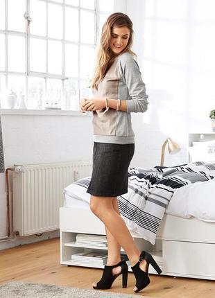 Юбка,  джинсовая,52 размера, до колена,классическая, большого размера, xl, прямая
