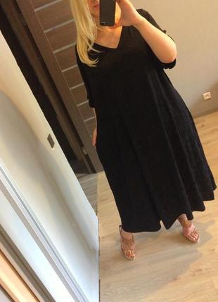 Шикарное итальянское шелковое платье в узоры батал