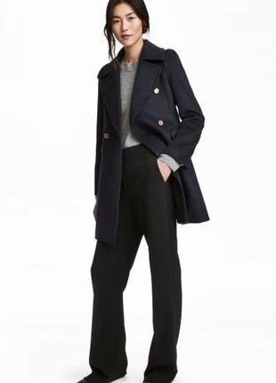 Двубортное пальто полушерсть h&m