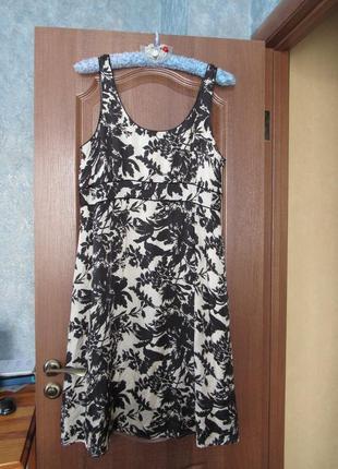 Идеальное платье миди в флористический принт от marks&spener р.20 4xl.
