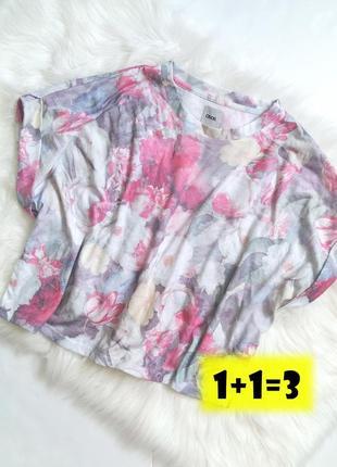 Asos стильная укороченная футболка m-l топ кроп топик блуза блузка цветы принт