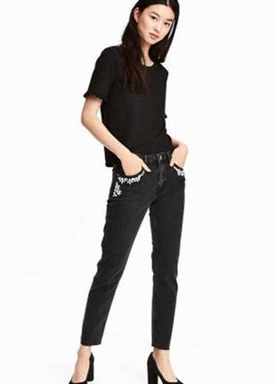 Оригинальные джинсы со стразами от бренда h&m разм. 34