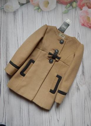 Стильное, бомбезное пальто на модницу 2-3 года от next.