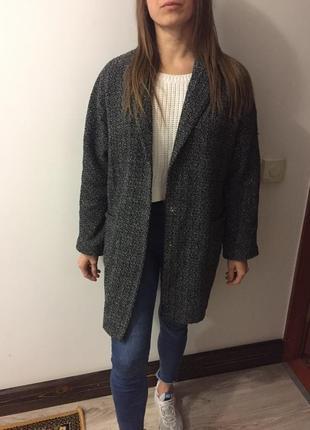 Пальто драповое бренд boohoo