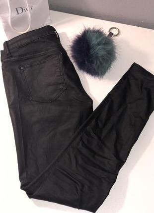 Кожаные штаны джинсы