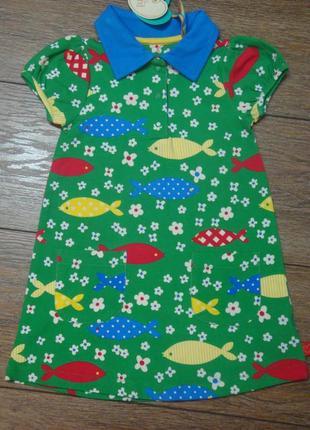 Красивое платье mothercare 18-24 мес с рыбками