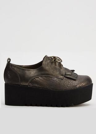 Закрытые туфли на платформе, сникерсы, криперы, лоферы, оксфорды, размер 37, англия