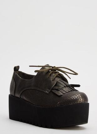 Закрытые туфли на платформе, сникерсы, криперы, лоферы, оксфорды, размер 37, англия2