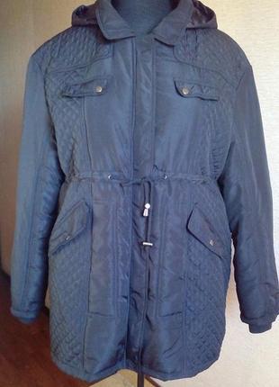 Куртка парка на синтепоне с капюшоном