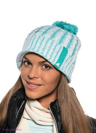 Теплая зимняя шапка adidas оригинал