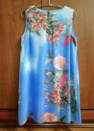 Красочно-воздушное шифоновое платье dorothy perkins, р. 42/xl/50
