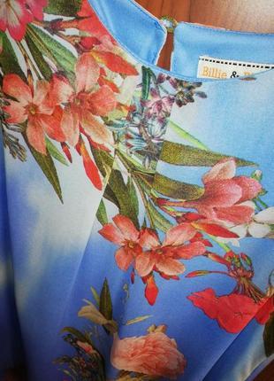 Красочно-воздушное шифоновое платье dorothy perkins, р. 42/xl/502 фото