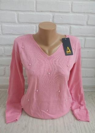 Нежный трикотажный свитерок#молодежный джемпер#красивый свитер