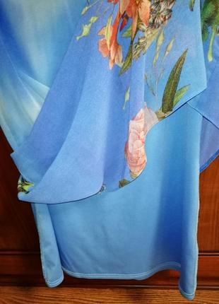 Красочно-воздушное шифоновое платье dorothy perkins, р. 42/xl/505 фото