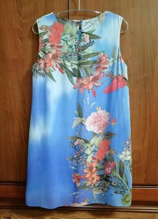 Красочно-воздушное шифоновое платье dorothy perkins, р. 42/xl/506 фото
