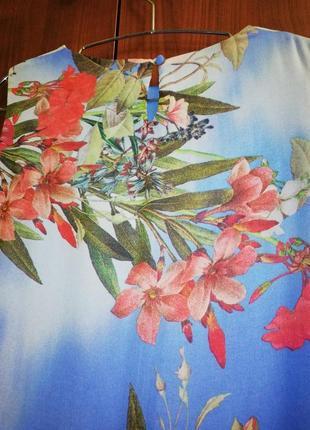 Красочно-воздушное шифоновое платье dorothy perkins, р. 42/xl/507 фото