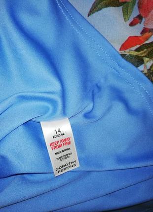 Красочно-воздушное шифоновое платье dorothy perkins, р. 42/xl/508 фото
