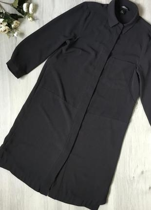 Фирменное платье рубашка h&m, размер 10/40