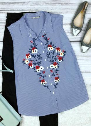 Стильная рубашка на лето с вышивкой