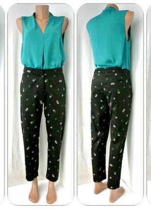 Стильные укороченные брюки peacocks с подворотом. размер uk14/eur 42.