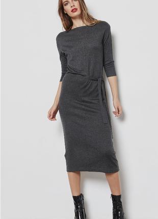 Деловое платье mango c шерстью s-l