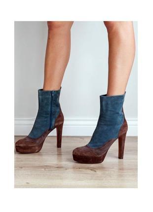 Замшевые ботинки ботильоны люксового бренда l'autre chose
