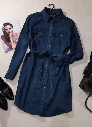 Стильное джинсовое платье. размер l