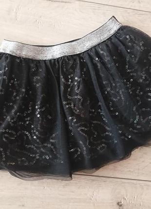 Юбка пачка фатин пайетки джордж george 4-5 лет 104-110 см