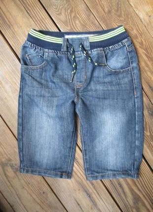 Джинсовые шорты denim co на 6-7 лет, шорты на резинке со шнурком