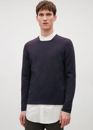 Обнова! джемпер синий navy в рубчик  качество бренд cos