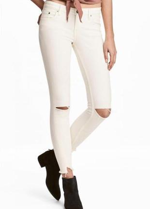 Оригинальные джинсы-slim low jeans от бренда h&m разм. 36
