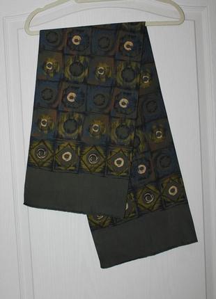 Мужской  стильный аксессуар ,двойной шарф /100% шелк
