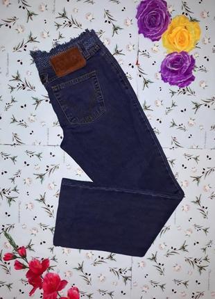 Крутые теплые плотные фирменные джинсы с бахромой, размер 44 - 46