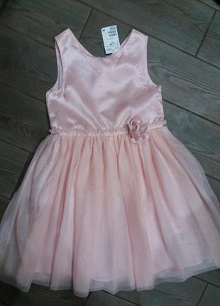 Шикарное платье h&m новое с бирками 140см 9-10лет4