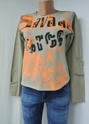 Новая модная, стильная унисекс кофта, футболка лонгслив alfor. размер s и m.